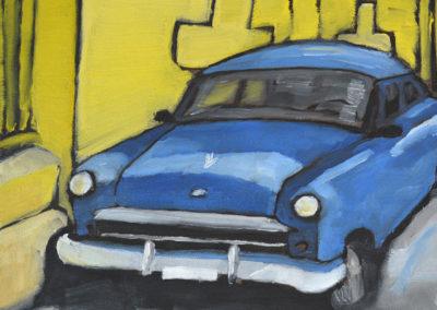 12x12-Blue-Car