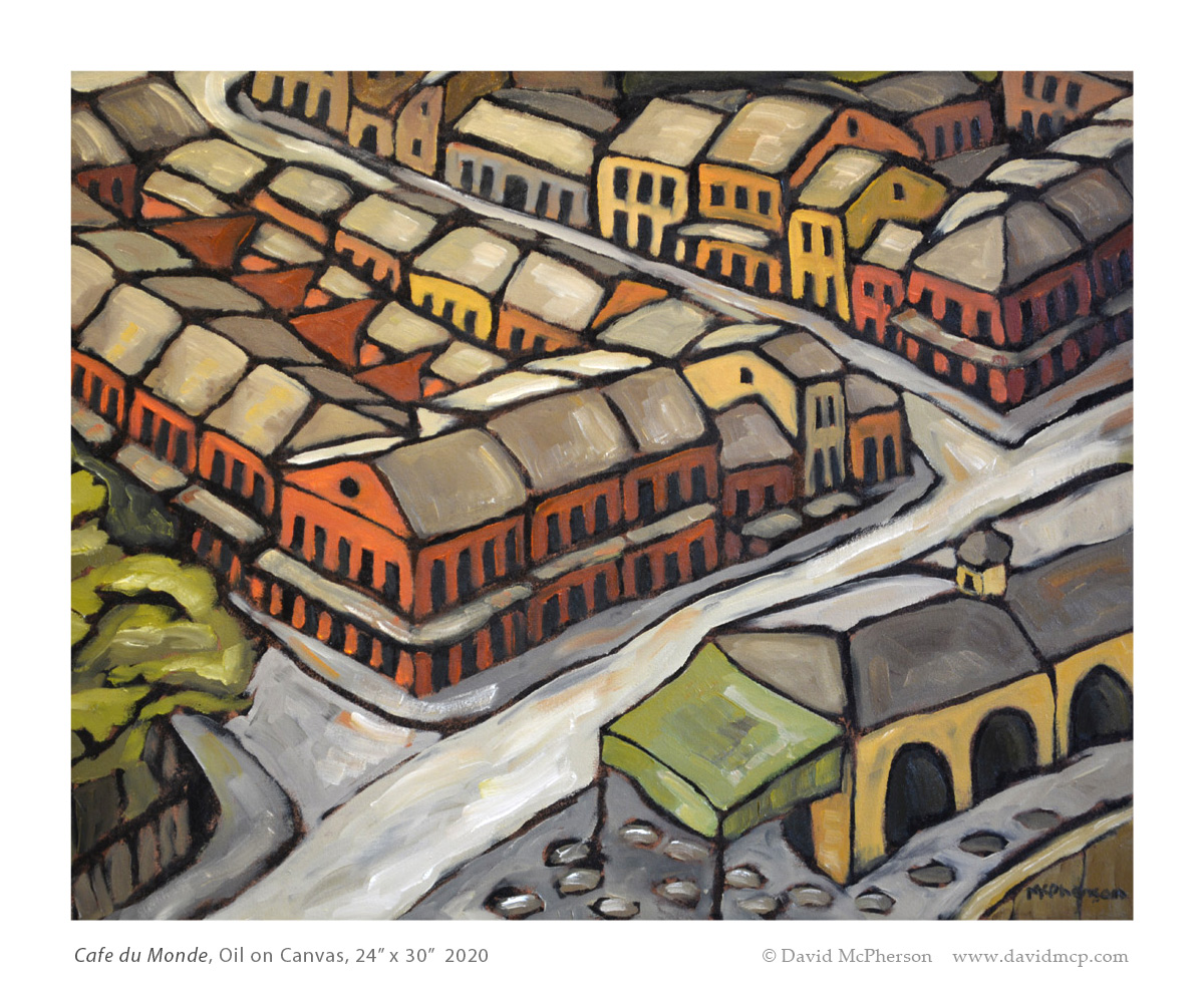 Cafe du Monde, Oil on Canvas, 24 x 30, 2020