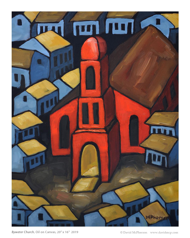 Bywater Church, Oil on Canvas, 20 x 16 2019 Copyright David McPherson www.davidmcp.com