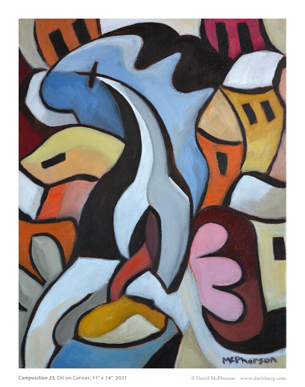 Composition 23, Oil on Canvas, 11x14, 2021